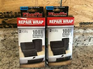 "2 Boxes x 2 Rolls Each FiberFix Medium 2"" x 50"" Repair Wrap Best By 3/15/21"