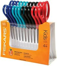 Fiskars 5 Inch Blunt Tip Kids Scissors Classpack, 12 Pack Box 3 Boxes 36 Total