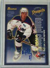 1997 Bowman CHL Autographs Daniel Cleary