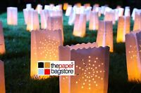 PAPER CANDLE LIGHT BAGS LANTERN WEDDING PARTY GARDEN BBQ BIRTHDAY - 5 STYLES
