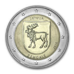 "Latvia 2 euro coin 2018 ""Zemgale"" UNC"