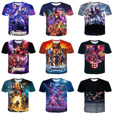Avengers 4 Captain  Women Men T-Shirt 3D Print Short Sleeve Tee Tops