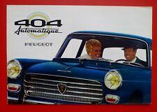 PEUGEOT 404 Automatique Brochure Prospekt Catalogue Dépliant