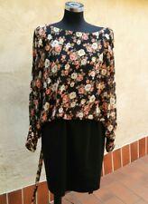 Abito  vestito Club L Asos gonna blusa fiori floreale cerimonia elegante tag. 20
