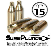 SurePlunge CO2 Refill Cartridges (Qty 15) --- Three (3) 5-Pack Boxes