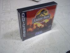 JURASSIC PARK.SEGA MEGA CD PAL .REPLACEMENT CASE+INLAYS ONLY.NO GAME