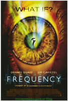 FREQUENCY MOVIE POSTER Original  27x40 N.MINT ! 2000 DENNIS QUAID SCI FI FILM