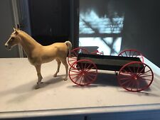 Vintage Marx Johnny West Best of the West Buckboard Wagon with Horse.