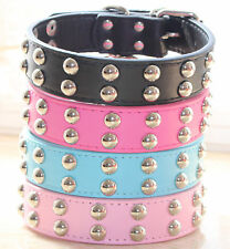 1.2' Wide Pu Leather Spiked Studded Studs Dog Collars For Large Dog Pitbull