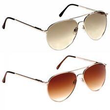 Gafas de sol de mujer de espejo de plata 100% UV