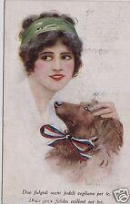 # DONNINA E CANE  - 1920
