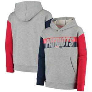 New England Patriots Nike Youth Boys Heritage Tri-Blend Hoody Sweatshirt