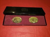 Vintage D Day Commemoration Committee Unique 2 Brass Pieces June 6 1944 in Box