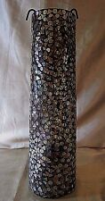 TALL CYLINDRICAL LEADED STAINED MOSAIC GLASS TEA-LIGHT HOLDER - Exotic Resort