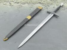 1/6 Scale Toy Crusader Knights - Metal Sword w/Black & Gold Like Sheath