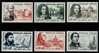 FRANCE - 1960 FAMOUS PEOPLE - SURTAXED - Sc#B341/B346 - MNH - E 2090