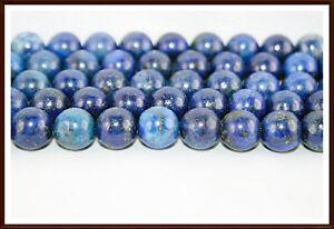 6 - 8 - 10 mm Strang Lapis Lapislazuli Perlen Edelsteine blau  leuchtend