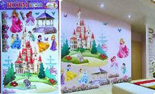 Disney Removable Kid's Room 3D Princess Castle Wall Decal Home Decor DIY Sticker