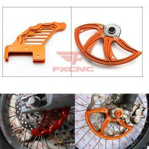 Orange CNC Front Rear Disc Rotor Brake Guard Protect For SX SXF 125 250 350 450