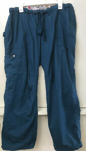 Koi Scrub Pants Size XL Teal Blue Caribbean 701 Lindsey Cargo