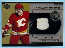 LANNY MCDONALD 2000 UPPER DECK A PIECE OF HISTORY GAME USED STICK