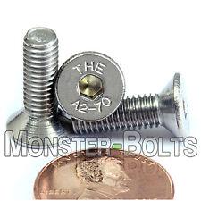 (10) M5 x 16mm  Stainless Steel Flat Head Socket Caps Screws A2 DIN 7991 5mm 0.8