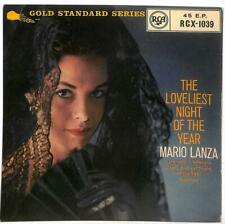 "Mario Lanza - The Loveliest Night Of The Year - 7"" Vinyl Record EP"