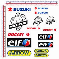 Adesivi sponsor sticker replica michelin arrow ducati suzuki elf pvc 15 pz.
