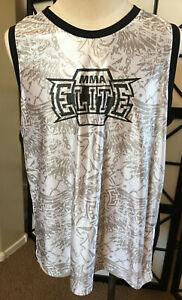 MMA Elite men's Sleeveless Top XL white/black/tan