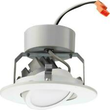 Lithonia Lighting 4 in. Matte White Recessed Gimbal Integrated LED Module 3000K
