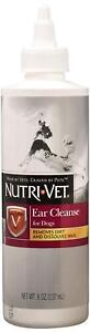 Nutri Vet Ear Cleanser For Dogs Removes Dirt & Dissolves Wax 8oz