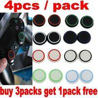 4x Silikon Grips Joystick Thumbstick Caps für PS4 Controller Rot Schwarz Kappe