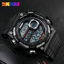 Hot Sale Men Sports Digital LED Rubber Strap 50M Waterproof Wristwatch- 2017