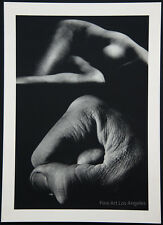 "Jerry Uelsmann Photo ""Nude With Fist""  1970 Sheet Fed Gravure"