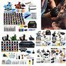 Complete Tattoo Machine Guns Kit LCD Power Supply Equipment W/Needle