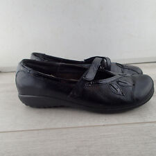 Naot Mary Jane Women's Size 40 US 9 Black Leather Buckle Shoes a7