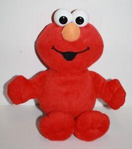 "Sesame Street ELMO DOLL 11"" Plastic Eyes Plush 90524/90522 Toy 2002 Fisher Price"