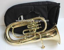 "Best Euphonium (Tuba)Shinning Brass Bb FLAT 3V ""CHOPRA ""M/ PIECE & Bag Fast Ship"