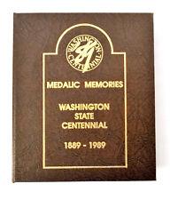 Centennial Medals 1889-1989 Washington State Antique Bronze Uncirculated 51 Set