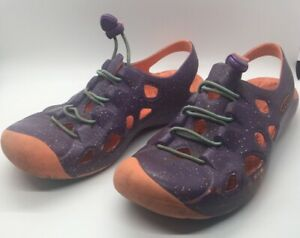 Keen Sandal Youth  Size 5 Women's Size 6.5 Water Shoes Purple Full Toe Pull Lace