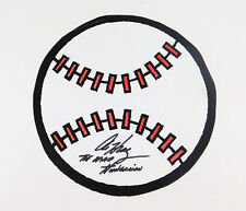 "Al Hrabosky Signed Baseball Paper Cutout + Inscription ""The Mad Hungarian"" Auto"