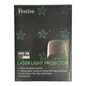 Christmas Images Red & Green LED Outdoor Indoor Use Laser Light Projector