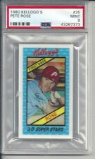 1980 Kellogg's Pete Rose #35 PSA 9 Mint Baseball Card.