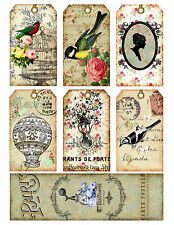 French Romance Hang Tags and Bookmark Shabby Chic - Scrapbooking, Paper Crafts