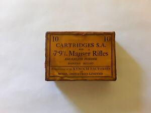 Mauser Rifles Vintage Cartridge Box. Kynoch 7.9 m/m. Collectible.Cartridge.