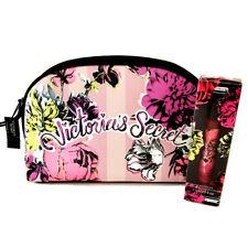 New VICTORIA'S SECRET Bombshell Wildflower Makeup Bag & Rollerball Perfume Set
