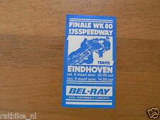STICKER,DECAL 1980 FINALE WK 80 IJSSPEEDWAY TEAMS EINDHOVEN IJSRACE 8-9 MAART