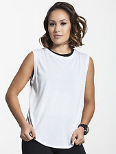 NWT Solow Women's Muscle Activewear Tank in White Size SMALL S