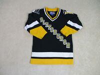 Starter Pittsburgh Penguins Hockey Jersey Youth Medium Black Yellow NHL Kids *