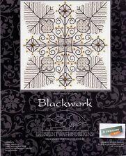 """Derwentwater Designs blackwork"""" """"Flores y las hojas"""" puntada cruzada contada Kit"""